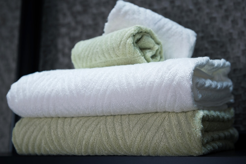 We love the form and function of Ikeuchi's organic bamboo bath towels