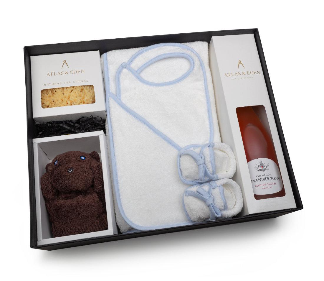 organic-baby-boy-gift-box-hamper-rose-champagne-inside