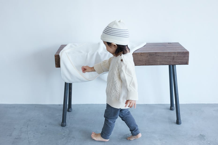 Pure & soft organic cotton takes care of a baby's only concern: comfort