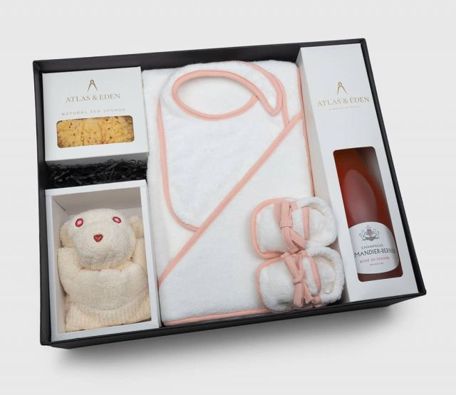 Looking for a gift box for a baby girl? Give one so beautiful it will never be forgotten…for 40% off! While stocks last.  atlasandeden.com.au/baby  A gorgeous origami bear will insist that you choose the rosé to match her eyes & the pure organic Japanese cotton pink-trimmed baby set. Presented in our premium Atlas & Eden gift box and paired with your choice of top-rated French organic/bio-dynamic champagne (pinot or rosé) or our premium mother's tea, along with a personalised wax-sealed gift note.  Why exactly is this organic cotton unlike any other? It's all covered in our new articles:  'The ecology of luxury: Australia's best organic cotton for bath & baby' 'Ikeuchi Organic: Japan's eco-cotton visionaries'  Enjoy!  #atlasandeden #ikeuchiorganic #organiccotton #babygifts #babygirl