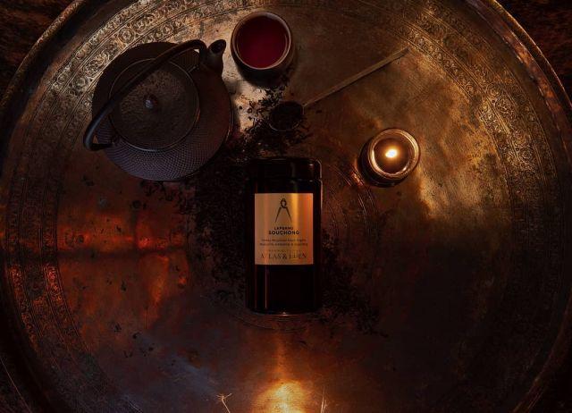 LAPSANG SOUCHONG ORGANIC TEA  An organic black tea from the altitudes of the Wuyi mountains smoked to perfection. Notes of cigar, whiskey & Dragon Eye.  atlasandeden.com.au/shop/tea/organic-tea/lapsang-souchong-organic-tea